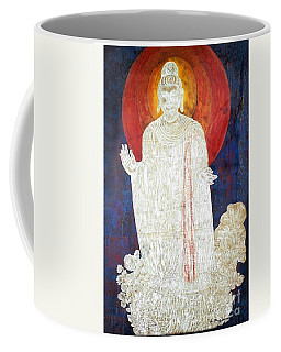 Coffee Mug featuring the painting The Buddha's Light by Fei A