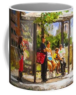 The Bus Stop Coffee Mug by Ted Azriel