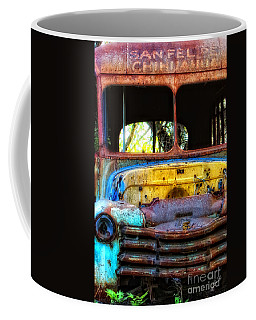 Coffee Mug featuring the photograph The Bus Stops Here by Erika Weber
