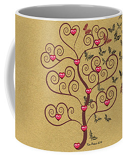the Butterly heart Tree Coffee Mug by Kim Prowse