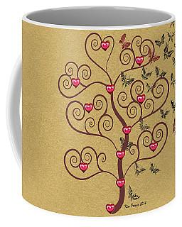 the Butterly heart Tree Coffee Mug