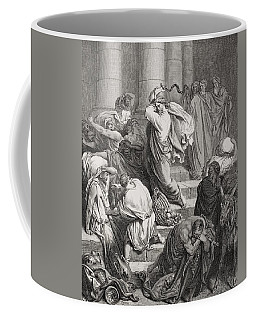 The Buyers And Sellers Driven Out Of The Temple Coffee Mug