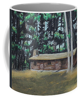 The Cabin Coffee Mug by Jeanne Fischer