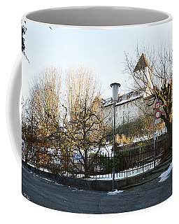 Coffee Mug featuring the photograph The Castle In Winter Light by Felicia Tica