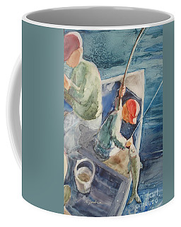 The Catch Coffee Mug by Marilyn Jacobson