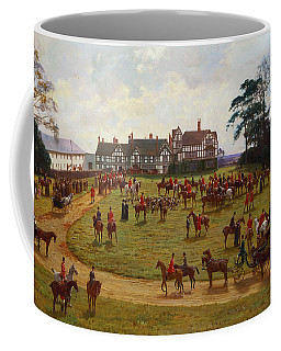 The Cheshire Hunt    The Meet At Calveley Hall  Coffee Mug
