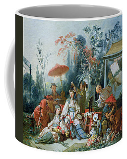 The Chinese Garden, C.1742 Oil On Canvas Coffee Mug
