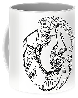 The Circle Of Life Coffee Mug by Melinda Dare Benfield