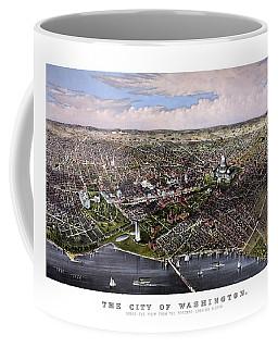 The City Of Washington Birds Eye View Coffee Mug
