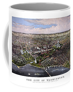 The City Of Washington Birds Eye View Coffee Mug