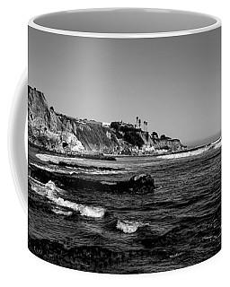 The Cliffs Of Pismo Beach Bw Coffee Mug