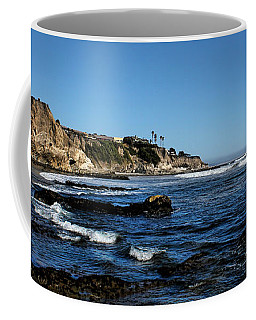 The Cliffs Of Pismo Beach Coffee Mug by Judy Vincent