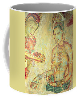 The Cloud Damsels, From The Rock Fortress Fresco Detail Coffee Mug