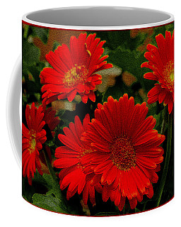 Gerbera Daisies Red Coffee Mug