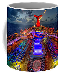 The Cruise Lights At Night Coffee Mug