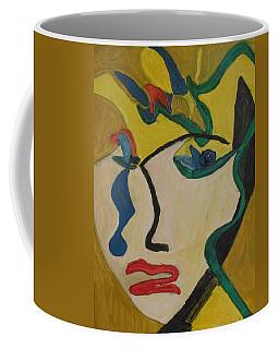 The Crying Girl Coffee Mug