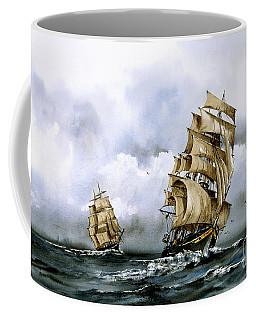 The Cutty Sark And The Red Clipper Coffee Mug