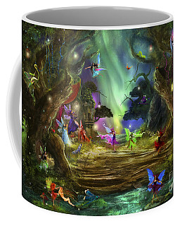 The Dancing Auroras Coffee Mug