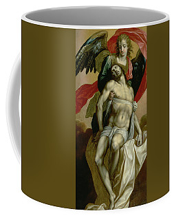 The Dead Christ Supported By An Angel  Coffee Mug