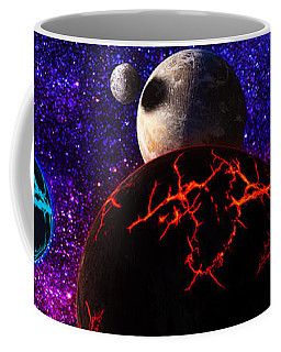 Coffee Mug featuring the digital art The Dead Solar System  by Naomi Burgess