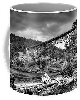 The Deception Pass Bridge II Bw Coffee Mug