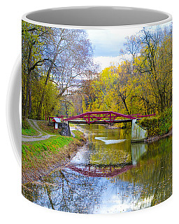 The Delaware Canal Near New Hope Pa In Autumn Coffee Mug