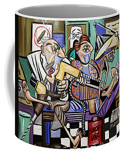 Coffee Mug featuring the painting The Dentist Is In Root Canal by Anthony Falbo