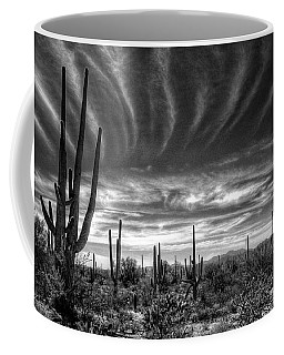 The Desert In Black And White Coffee Mug by Saija  Lehtonen
