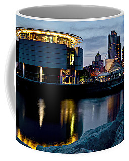 Coffee Mug featuring the photograph The Discovery Of Miwaukee by Deborah Klubertanz