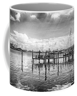 Coffee Mug featuring the photograph The Dock by Howard Salmon