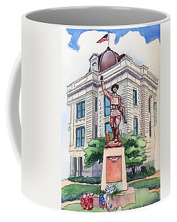 Coffee Mug featuring the painting The Doughboy Statue by Katherine Miller