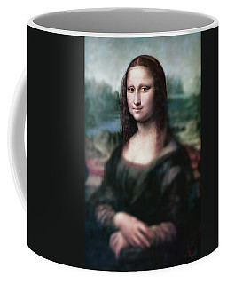 The Dream Of The Mona Lisa Coffee Mug by David Bridburg