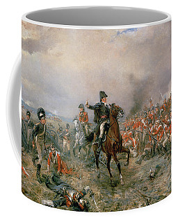 The Duke Of Wellington At Waterloo Coffee Mug