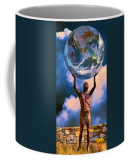 The Earth Is In Our Hands Coffee Mug