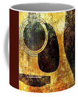 The Edgy Abstract Guitar Square Coffee Mug