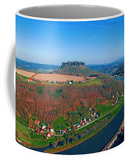 The Elbe Around The Lilienstein Coffee Mug