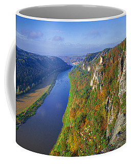The Elbe Sandstone Mountains Along The Elbe River Coffee Mug