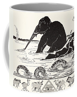The Elephant's Child Having His Nose Pulled By The Crocodile Coffee Mug