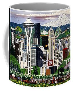 The Emerald City Seattle Coffee Mug by Jennifer Lake