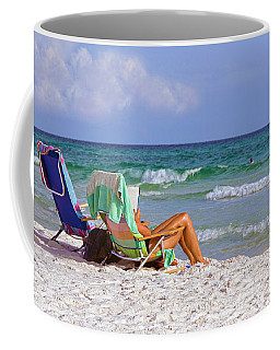 Coffee Mug featuring the photograph The Emerald Coast by Charles Beeler