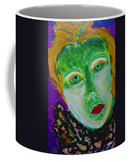 Coffee Mug featuring the painting The Emerald Lady by Joan Reese
