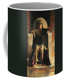 Coffee Mug featuring the painting The Empress Theodora by Jean-Joseph Benjamin-Constant