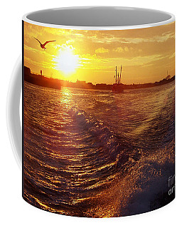 The End To A Fishing Day Coffee Mug by John Telfer