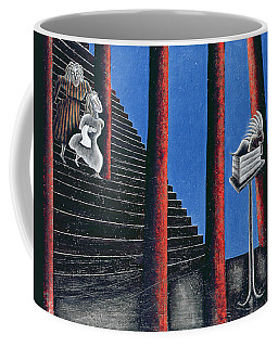 The Enigma Of Descent, 1993 Oil On Canvas Coffee Mug