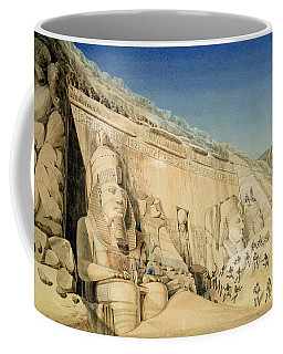 The Excavation Of The Great Temple Of Ramesses II Coffee Mug
