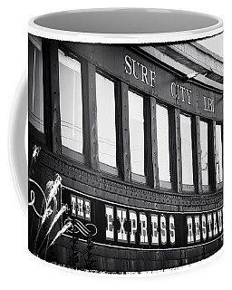 The Express Restaurant Black And White Coffee Mug