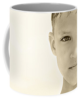 The Eye Of A Child Coffee Mug by Charles Beeler