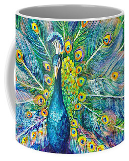 Coffee Mug featuring the painting The Eyes Have It by Nancy Cupp