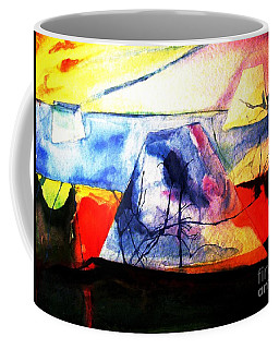 The Fabric Of My Heart Coffee Mug by Hazel Holland