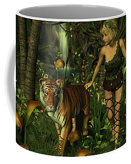 The Fairy And The Tiger Coffee Mug